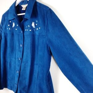 Northern Reflections Blue Shacket Embroidered B…